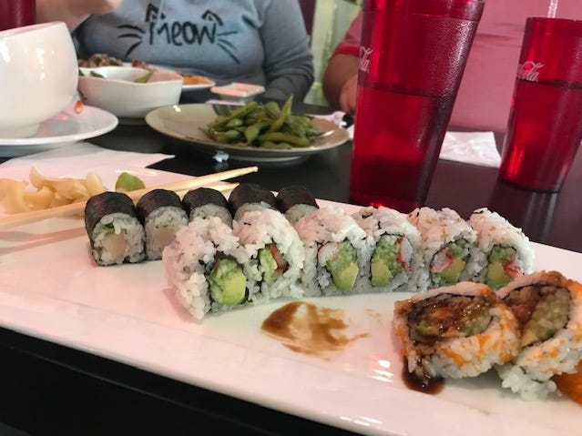 Reporter Patti Zarling had ordered a yellowtail roll, shrimp tempura roll and a California roll at Sakura Sushi & Thai.