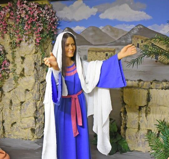 Mary from one of the scenes at the Bible Walk.