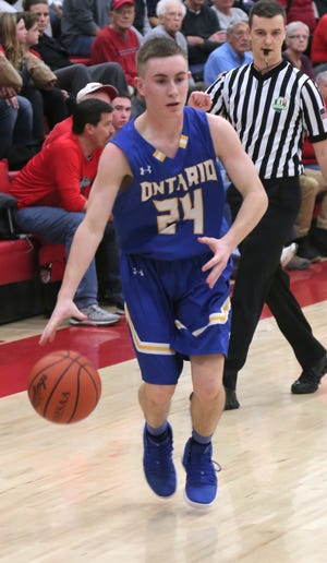 Ontario's Kolten Kurtz helped the Warriors to a win over Orrville with 13 points on Saturday afternoon.