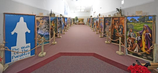 The Walk of Parables at the Bible Walk.