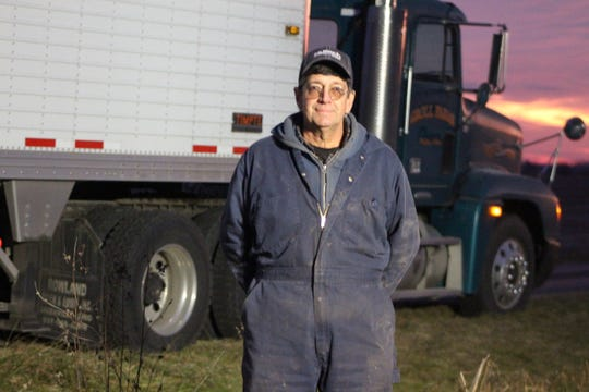 """Roger Groll spends Wednesday in the fields, trying to harvest the last of his soybean crop. """"This is the latest I've ever harvested soybeans,"""" he said. """"I've never harvested soybeans in December."""""""