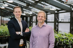 Geoffrey von Maltzahn, left, is co-founder and chief innovation officer of Indigo Ag and David Perry is chief executive officer of the 2015 startup that announced Dec. 12, 2018, that its North American headquarters for Commercial Operations will be in Memphis.