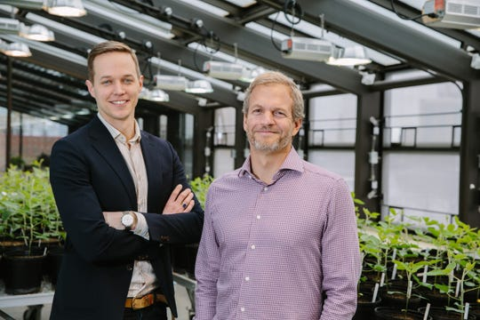 Geoffrey von Maltzahn, left, is co-founder and chief innovation officer of Indigo Ag and David Perry is chief executive officer of the 2015 startup that announced Dec. 12, 2018, that its North American headquarters will be in Memphis.