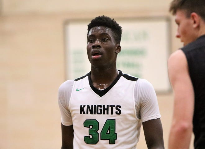 Dominican junior Alex Antetokounmpo looks on during a game against Lourdes Academy on December 13, 2018.