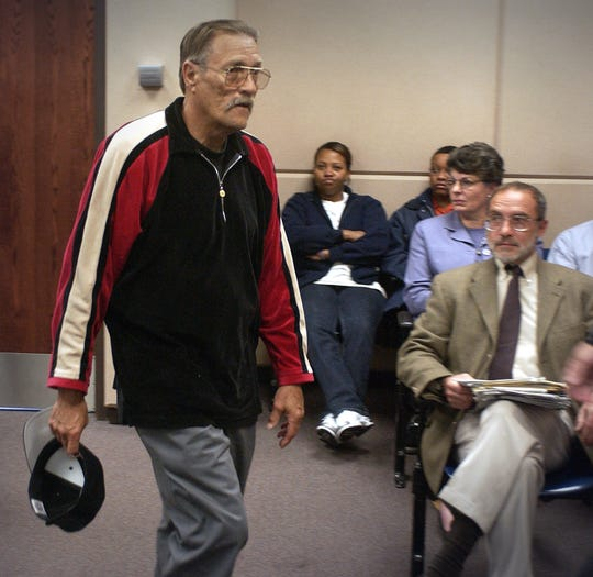 Billy Lee Morford (left)  appears in Milwaukee County Circuit Court in 2003 seeking placement in a residence on Milwaukee's northwest side.