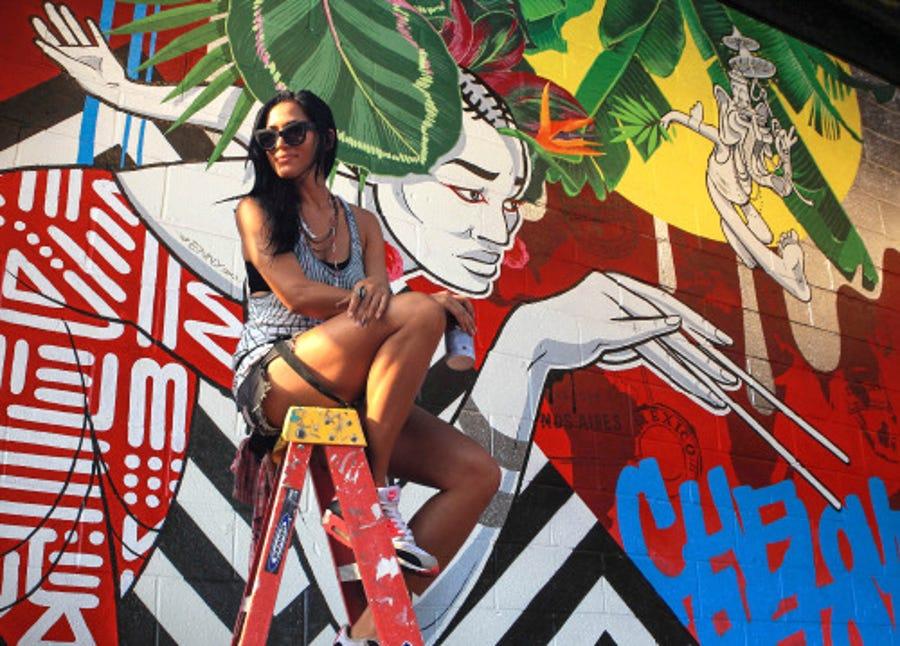 Washington, D.C. muralist, Cita Sadeli, aka CHELOVE.