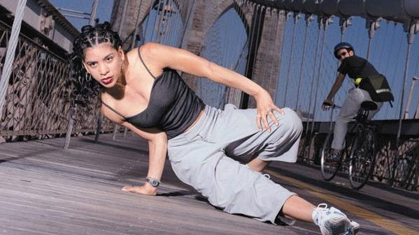 "Pioneering breakdancer Ana ""Rokafella"" Garcia."