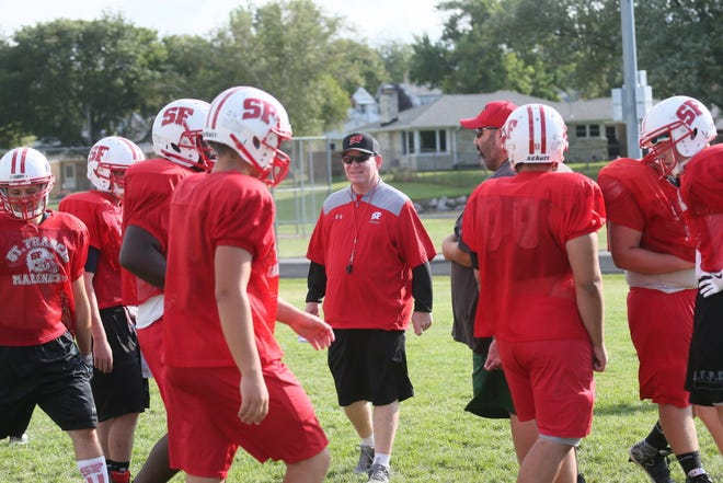 Doug Sarver coaches the St. Francis football team during the 2017 season. Friday he announced his plan to retire after 29 seasons as head coach. MICHAEL SEARS/MSEARS@JOURNALSENTINEL.COM