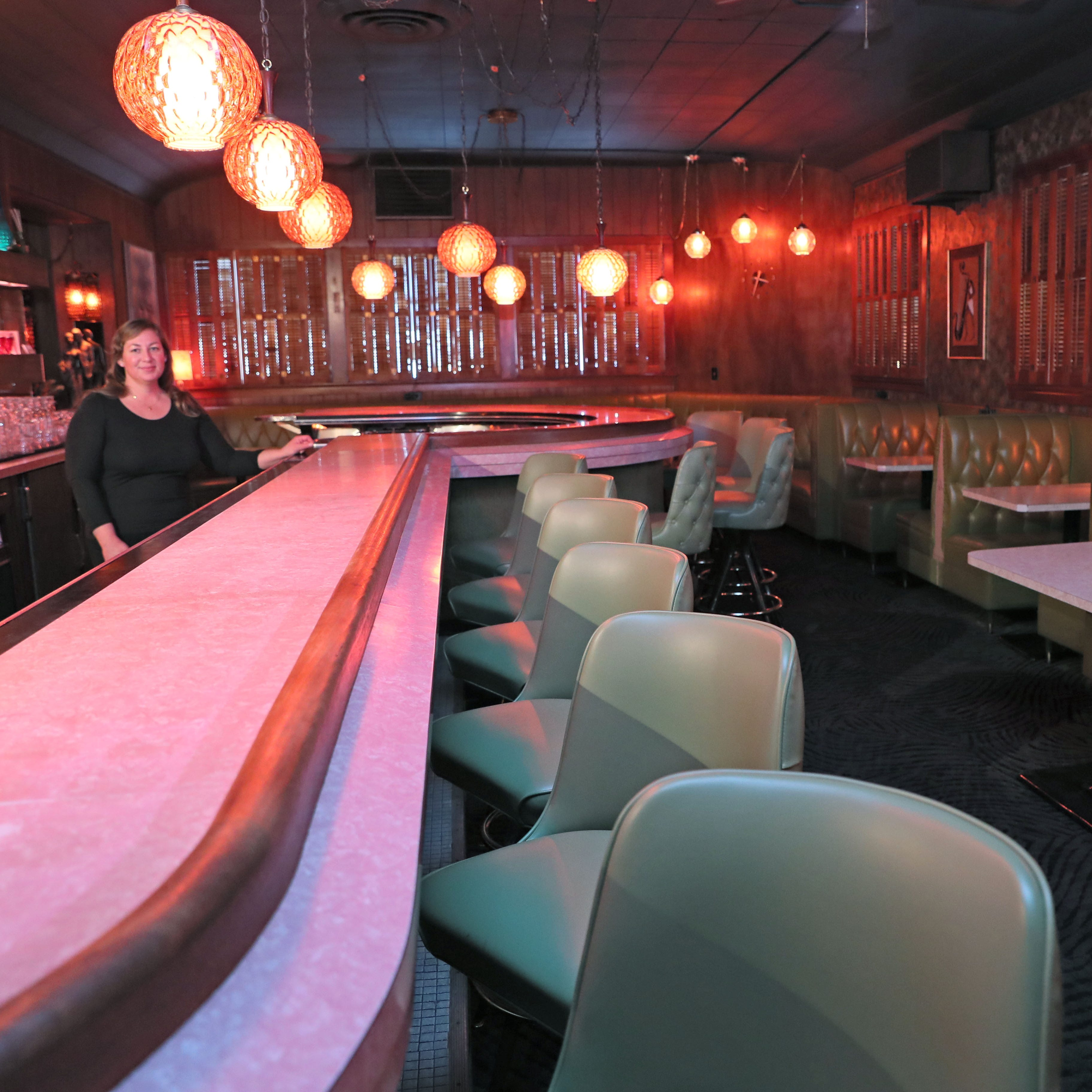 With vintage vinyl booths and ice cream drinks, At Random lounge is back, in full midcentury glory