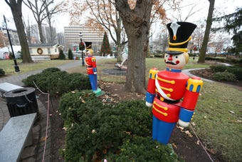 Morristown police are investigating the theft of a 6-foot tall toy soldier from the Christmas Festival display at the Morristown Green.