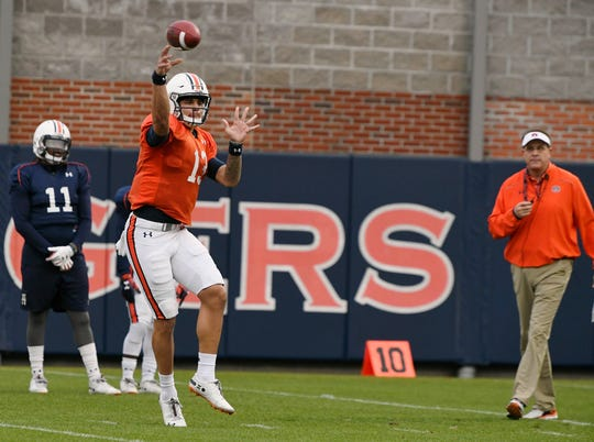 Auburn quarterback Joey Gatewood during practice on Thursday, Dec. 13, 2018 in Auburn, Ala.