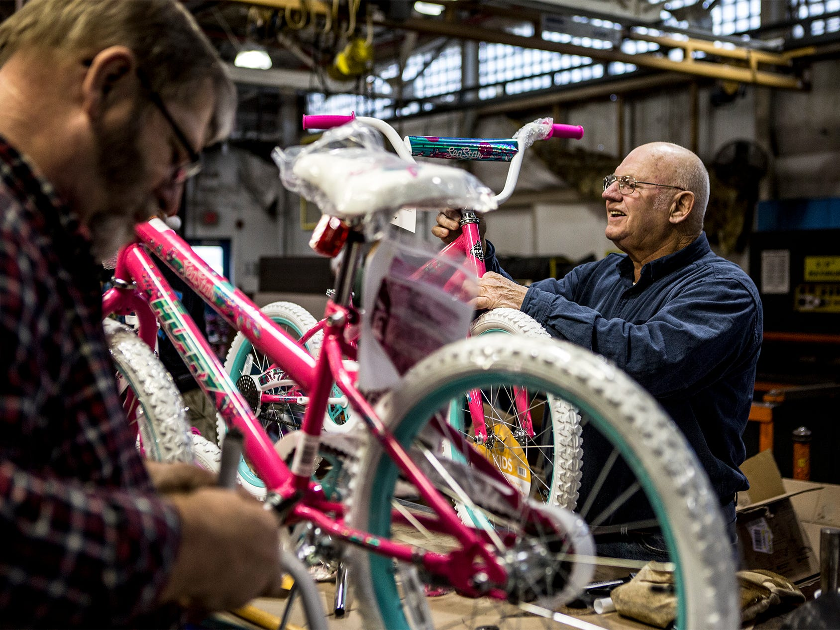 For the fourteenth year workers at Owen Corning put together bikes for kids in need to be given out at the Salvation Army's toy drive later this month. This year 138 bikes were assembled by Owens Corning and Aboris.