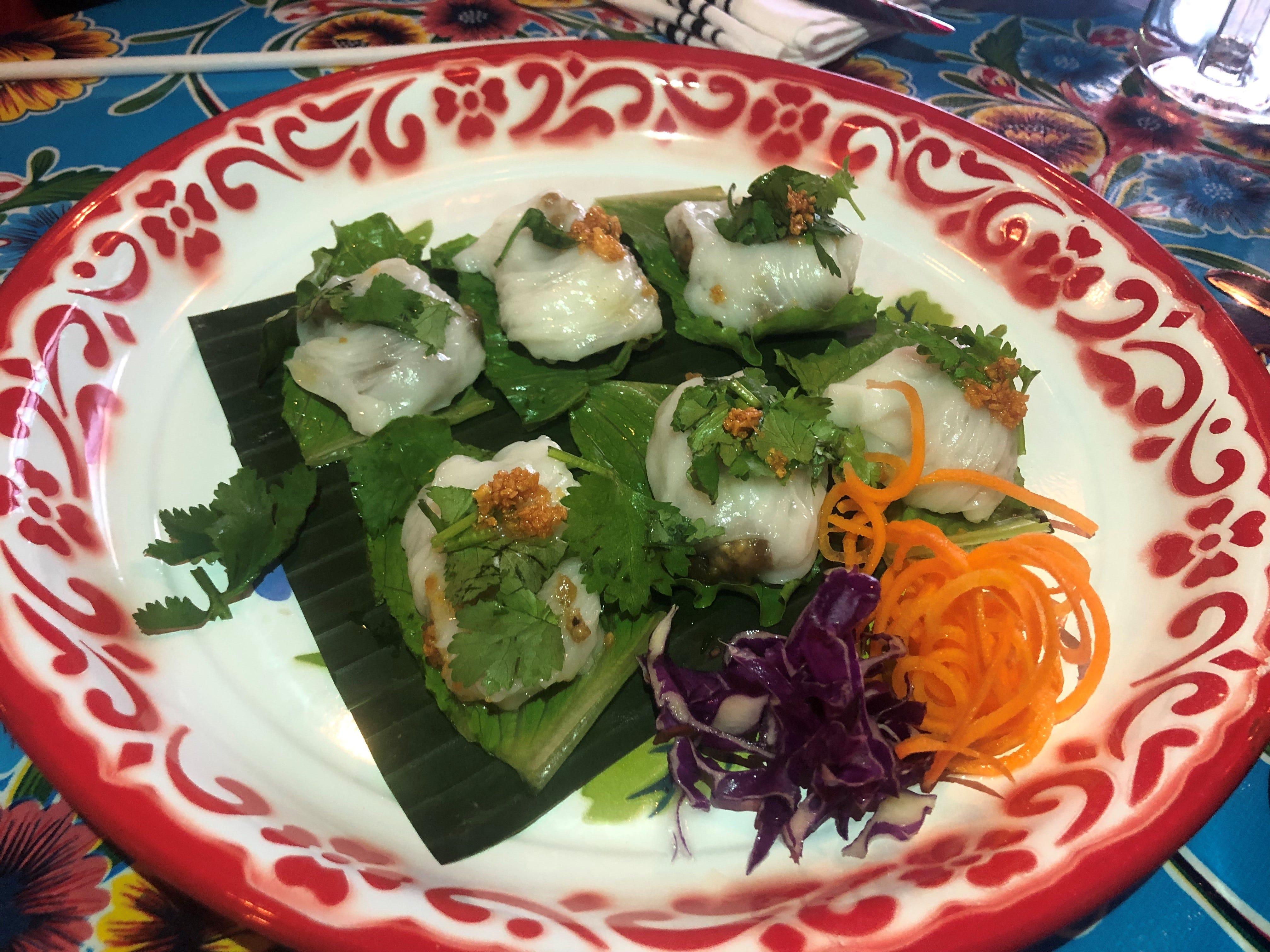 The pak mor at Kai Yang is a type of Thai dumpling.