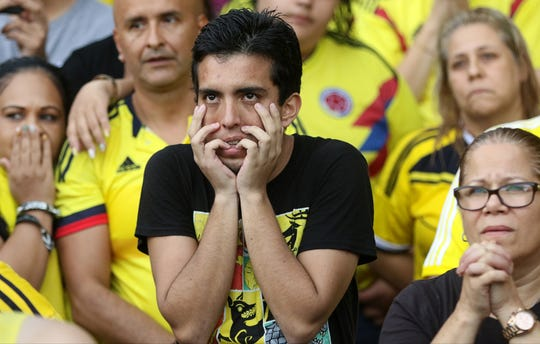 Colombia soccer fans had trouble watching the World Cup game vs England during the second half.