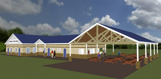 A rendering of the field house project in Votee Park.