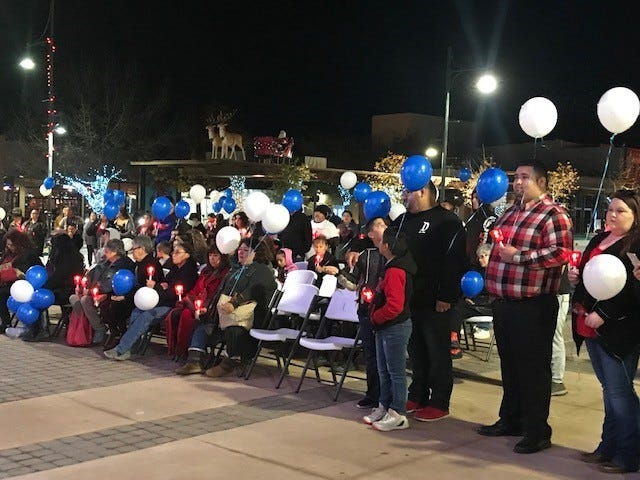 The 18th annual Candlelight Vigil of Remembrance and Hope for DWI and Homicide Victim Families was held Saturday, Dec. 8 at the Plaza de Las Cruces.