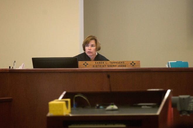 District Court Judge Karen Townsend hands down her sentence for defendant Rick Stallings on Dec. 13, 2017, in Aztec District Court. The New Mexico Supreme Court ordered Townsend to vacate the selection of a Child Support and Domestic Relations Hearing Officer/Domestic Violence Commissioner.