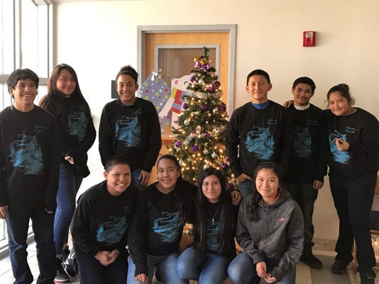 Mescalero leadership students