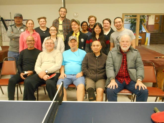 Participants relax at the Ruidoso Community Center after the Holiday Table Tennis Tournament.
