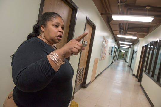 Samaritas Family Center director Tamieka Andrews gives a tour of the facility.