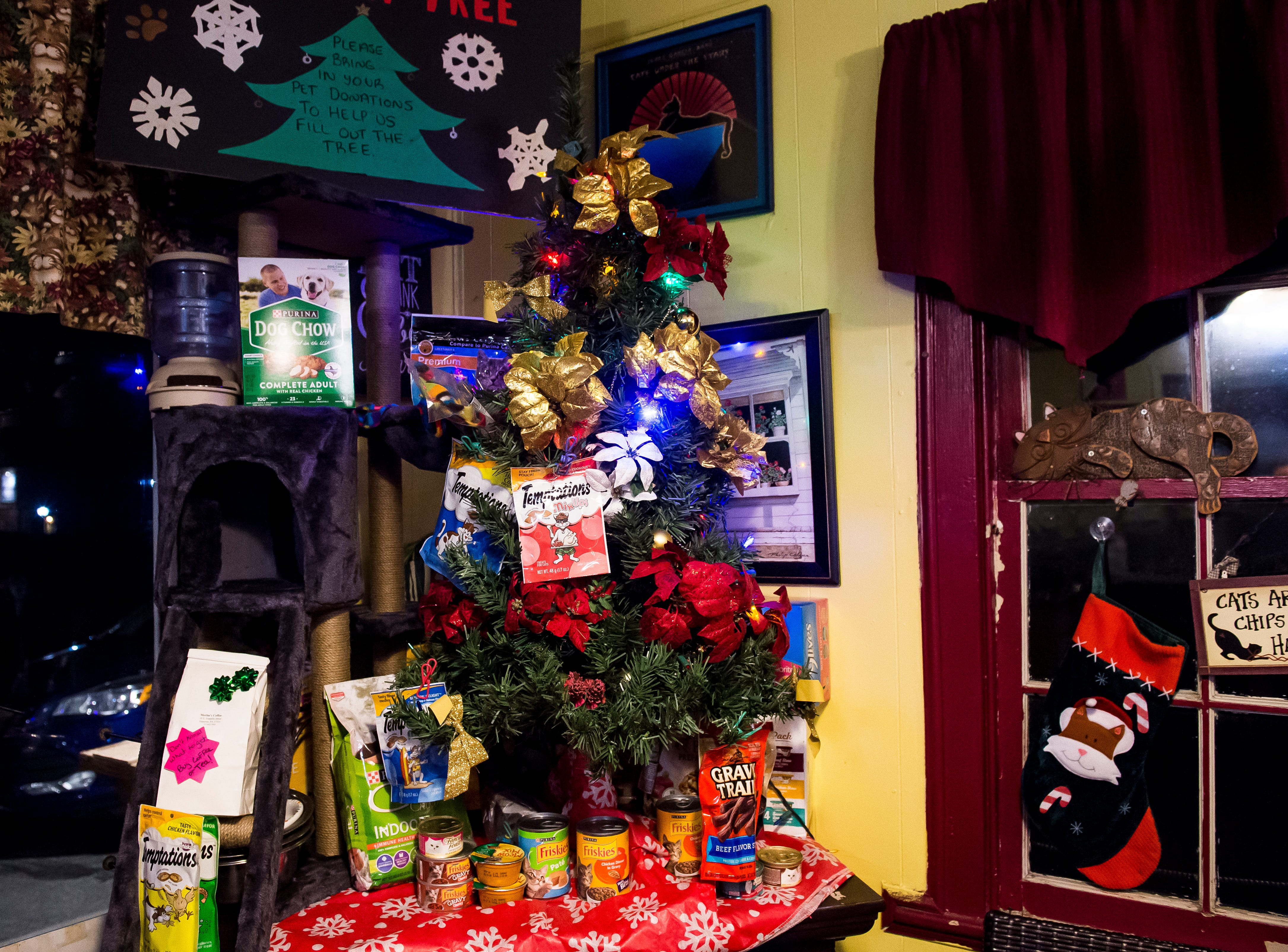 Merlin's Coffee located at 10 South Franklin St. Visit mainstreethanover.org for details about Christmas Tree Wars.