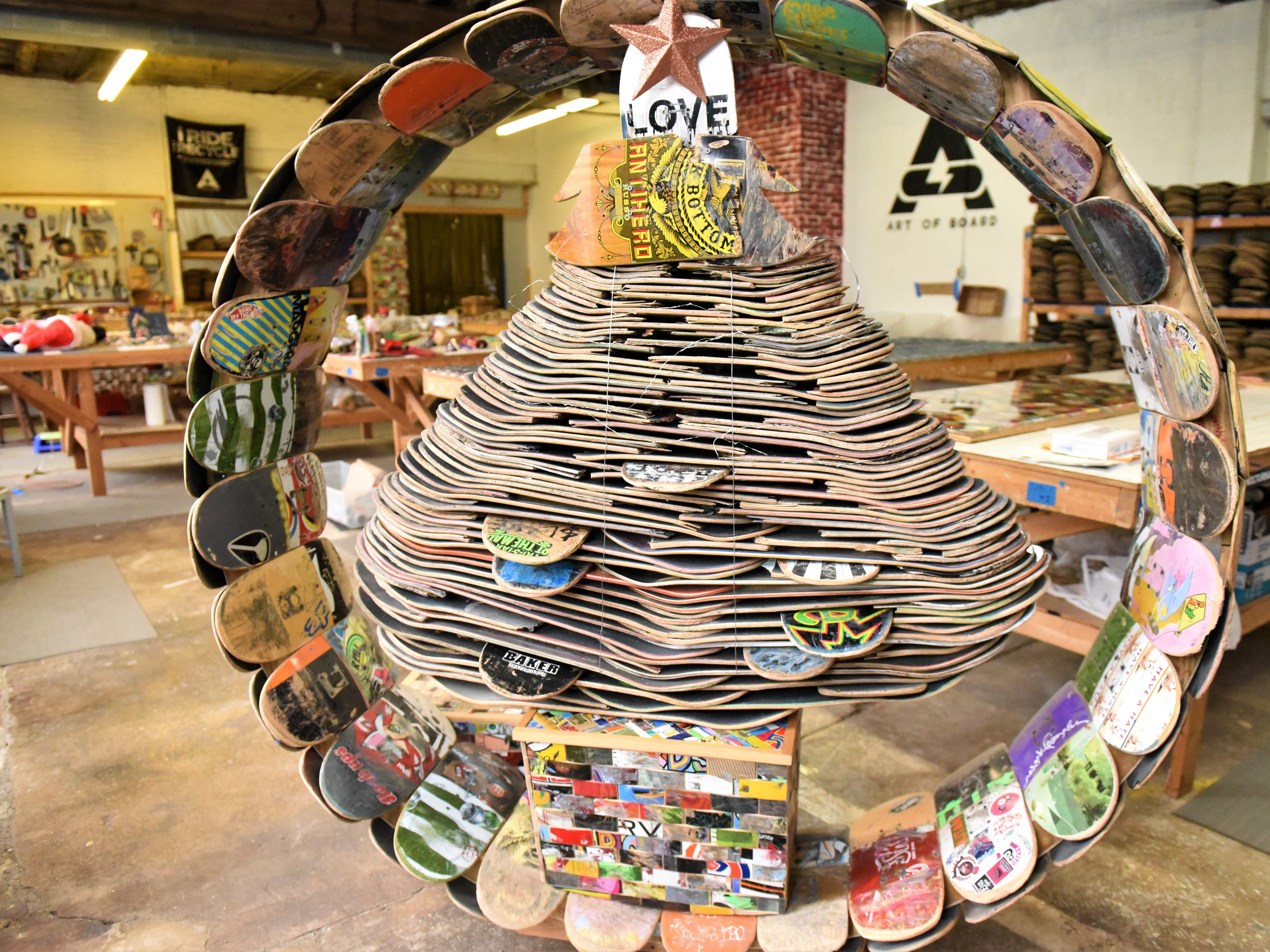 Art of Board is located at 218 East Chestnut St. Visit mainstreethanover.org for details about Christmas Tree Wars.