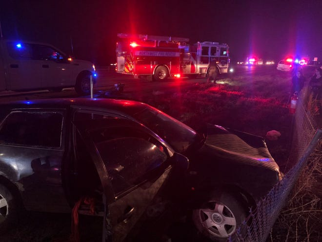 A four-vehicle crash involving a semitruck near Marana shut eastbound I-10 north of Tucson on Thursday night.