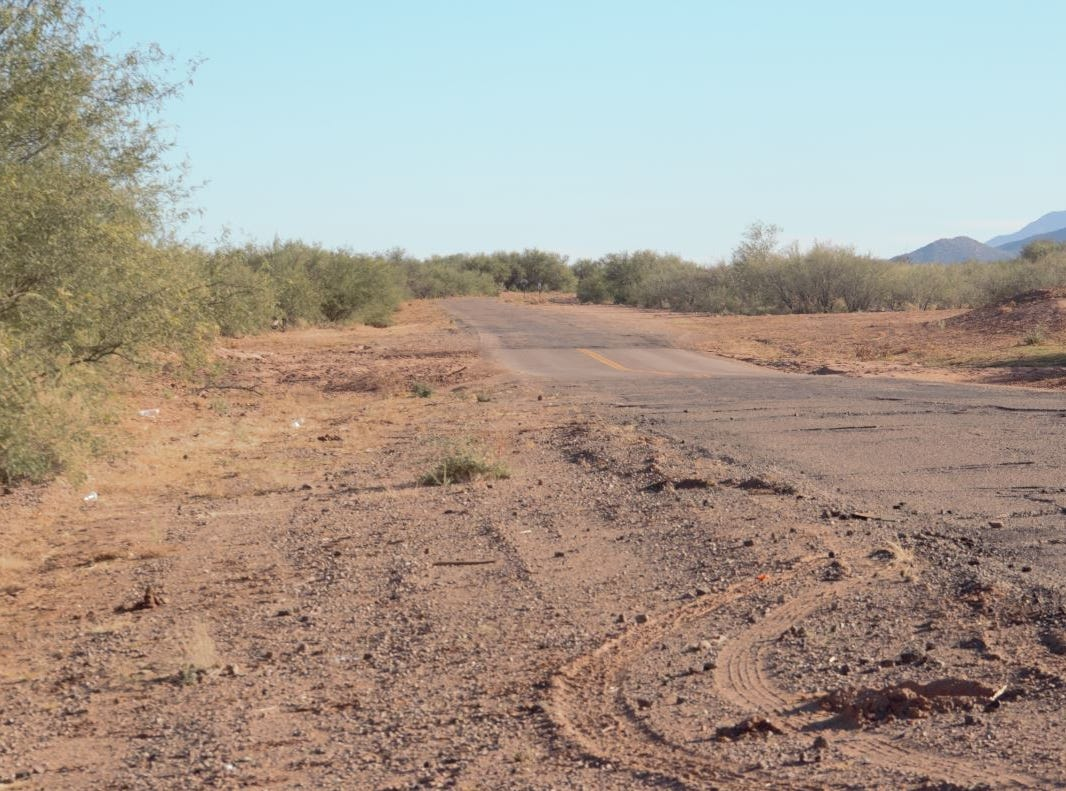 The roads to villages on the Tohono O'odham reservation are often damaged from flooding.