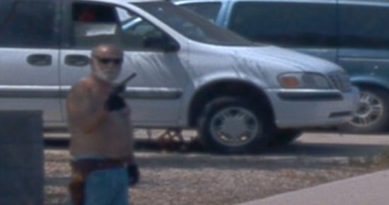 Video from a Waymo vehicle shows a man waving a gun at the van. Roy Leonard Haselton, 69, was arrested Aug. 8 and charged with aggravated assault and disorderly conduct.