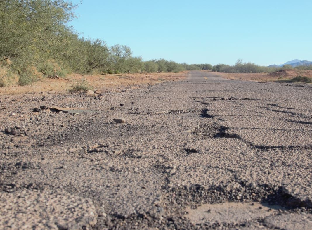 The roads to villages on the Tohono O'odham reservation are often damaged from flooding, which can make it difficult for students to get to school.