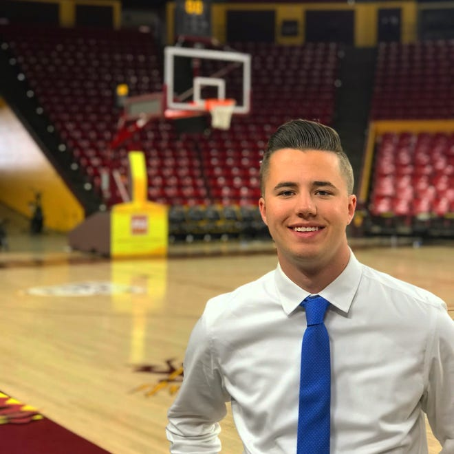 ASU senior Braiden Bell will be calling the ASU at Georgia men's basketball game on KTAR radio in place of Tim Healey, who will be with football at the Las Vegas Bowl.