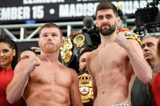 Canelo Alvarez V Rocky Fielding Weigh In