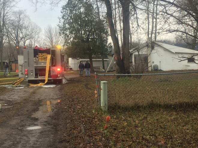 A man was found dead in burning home Friday in Burtchville Township.