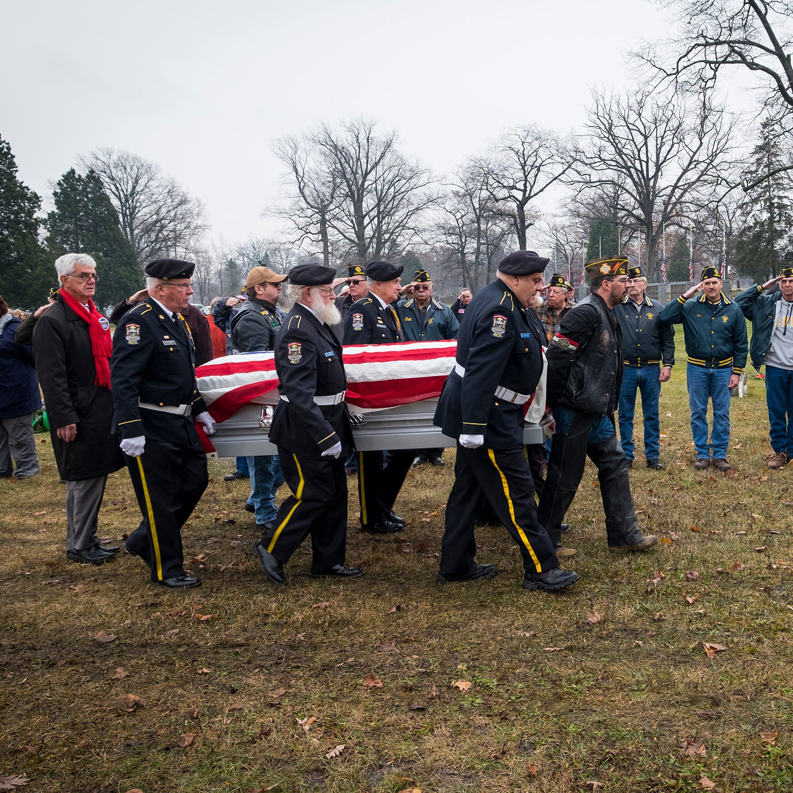 Band of brothers honor one of their own