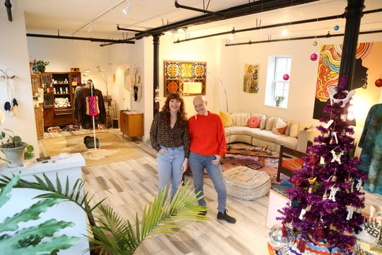 Co-owners, from left, Meghan Conway and Alyia Cutler of Wyld Womyn in Beacon on December 13, 2018. The pair are doulas who opened Wyld Womyn to help women through all stages in life, from birth to postpartum.