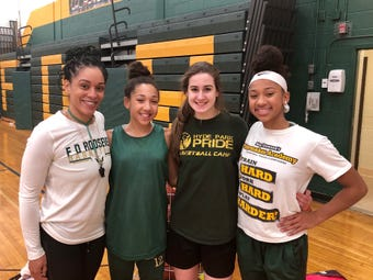 The Franklin D. Roosevelt girls basketball team discusses having a new head coach and the high expectations that come with its talented roster.