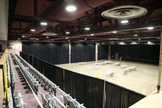 The main floor of the Mid-Hudson Civic Center on December 13, 2018.