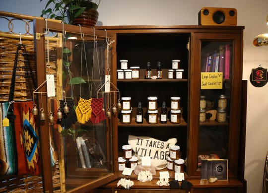 Products for sale at Wyld Womyn in Beacon on December 13, 2018. Wyld Womyn is owned by a pair of doulas who help women through all stages in life, from birth to postpartum, and their retail offerings support this philosophy.
