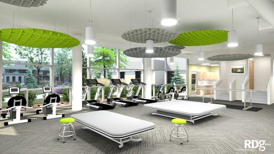 The therapeutic gym at Menno Haven Rehabilitaiton Center will be similar to this rendering.
