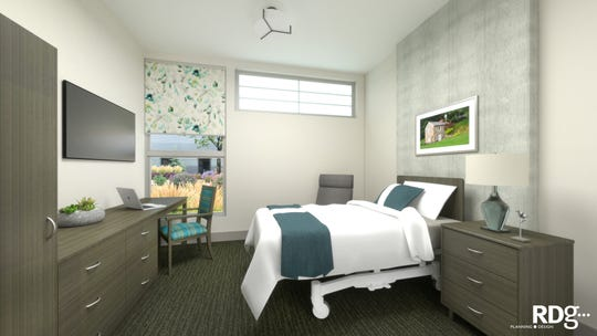 A guest room at the Menno Haven Rehabilitation Center which open in January 2019.