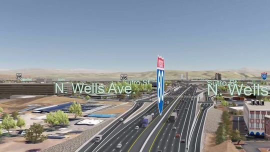The Wells Avenue ramps under NDOT's preferred Spaghetti Bowl Project alternative plan.