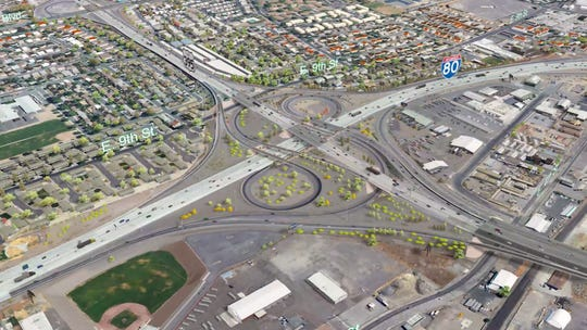 The current Spaghetti Bowl prior to NDOT's preferred Spaghetti Bowl Project alternative plan.