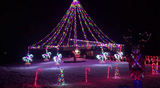 The Colony Lane cul-de-sac is bright with Christmas lights!