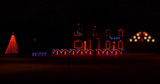 An elaborate display that synchronized lights and music can be foun on White Oak Bend in Chili