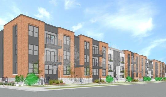 Konar Properties' building along Union Street between Broad and Savannah streets.