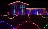 Lights glow at this Chili home.