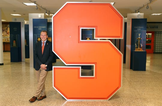 """Syracuse fourth-year AD John Wildhack on dealing with coronavirus shutdown: """"For us, the first thing we focused on is our student-athletes, that's our mission statement, that's what we're here for. That's been our No. 1 objective.''"""