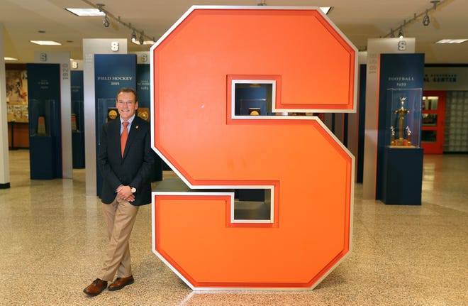 John Wildhack spent much of his career at ESPN before coming to  his alma mater, Syracuse University as director of athletics.