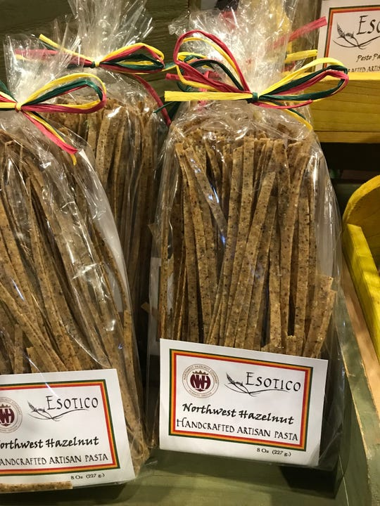 Esotico's Northwest Hazelnut pasta, pictured here at the Mount Angel Hazelnut Festival on Dec. 1, 2018.