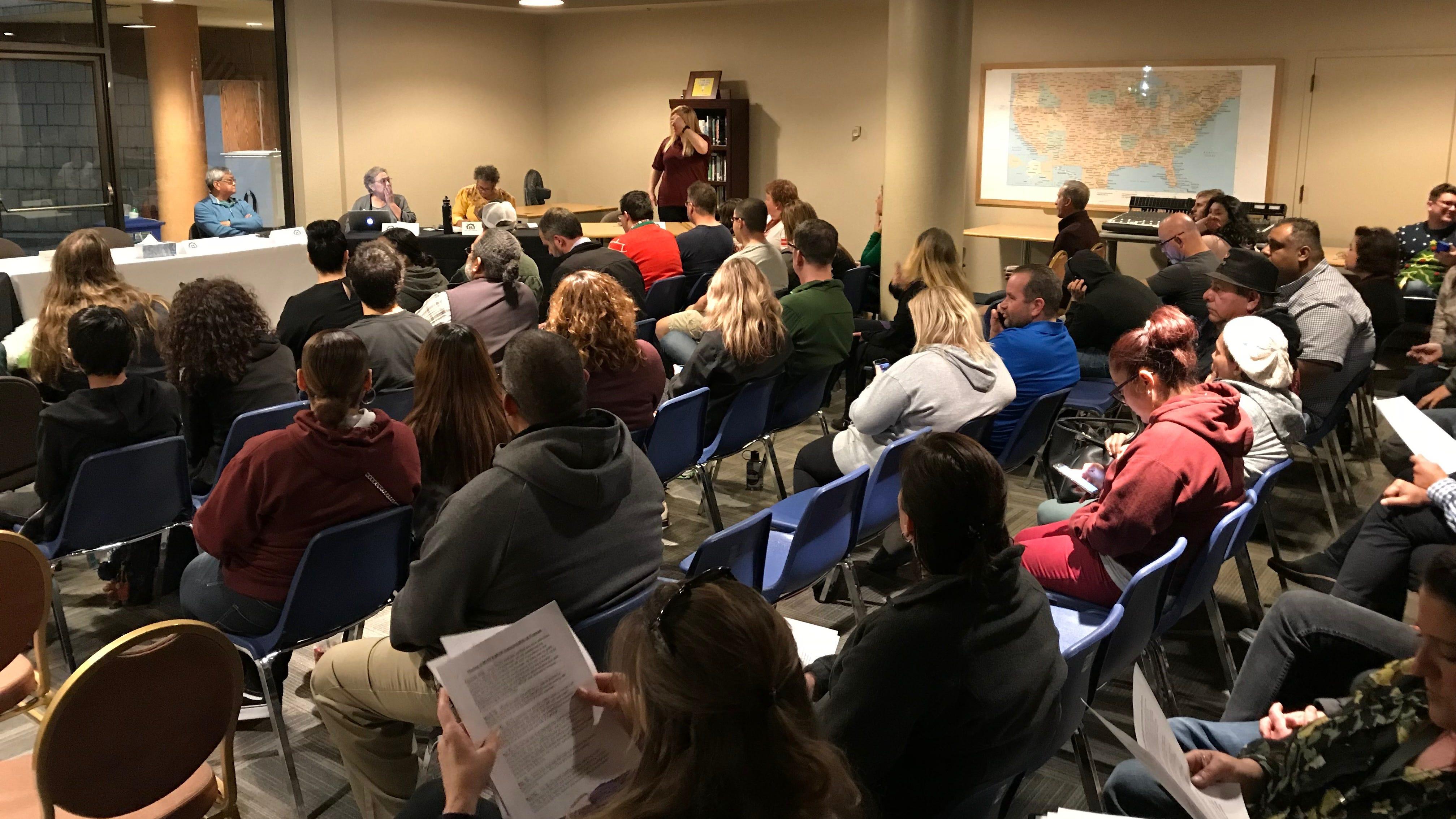 Thursday's parent meeting at Millennium Charter High School.